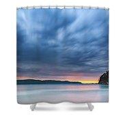 Cloudy Sunrise Seascape Shower Curtain