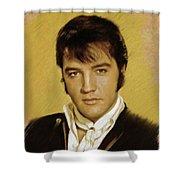 Elvis Presley, Rock And Roll Legend Shower Curtain