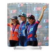 Fearless Femme Racing Shower Curtain