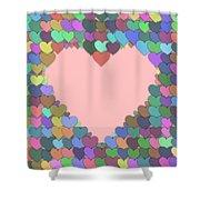 Love Heart Valentine Shape Shower Curtain