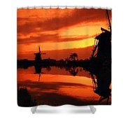 M N Landscape Shower Curtain