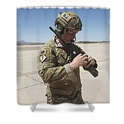 Pararescuemen Conducts A Communications Shower Curtain
