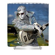 Silver Elvis Shower Curtain