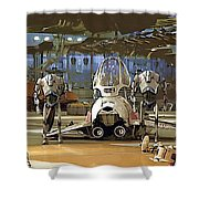 Star Wars Episode 1 Poster Shower Curtain