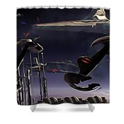 Star Wars Episode 6 Poster Shower Curtain