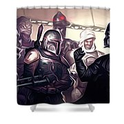 Star Wars Heroes Poster Shower Curtain
