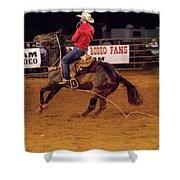 Steer Roping Shower Curtain