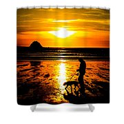 Sunset Bay Beach Shower Curtain
