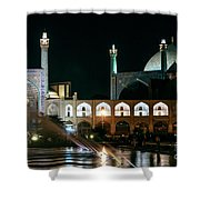 The Shah Mosque Famous Landmark In Isfahan City Iran Shower Curtain