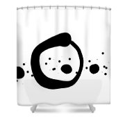150814ba Zen Doodle Shower Curtain