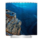 Landscape Oil Painting Nature Shower Curtain