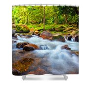 Nature Painted Landscape Shower Curtain
