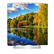 Nature Landscape Painting Shower Curtain
