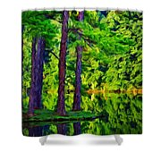Nature Oil Painting Landscape Shower Curtain