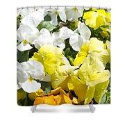 ,, Flowers ,, Shower Curtain