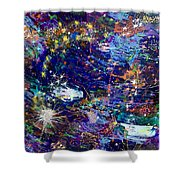16-1 Blue Space Shower Curtain