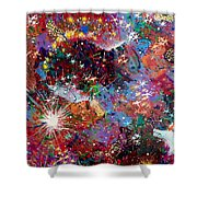 16-2 Yellow Space Shower Curtain