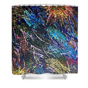 16-4 Space Explosion Canvas Shower Curtain