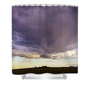 Afternoon Nebraska Thunderstorm Shower Curtain