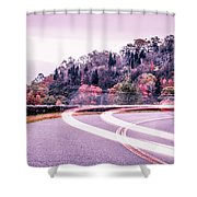 Autumn Season On Blue Ridge Parkway Shower Curtain