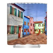 Burano Venice Italy Shower Curtain