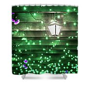 Christmas Light Bokeh At Daniel Stowe Gardens Belmont North Caro Shower Curtain