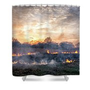Fires Sunset Landscape Shower Curtain