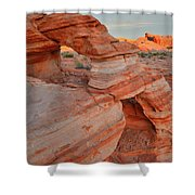 First Light On Valley Of Fire Shower Curtain
