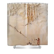 Italy The Red And Green Album  Shower Curtain