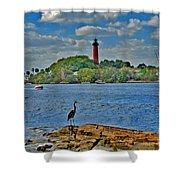 16- Jupiter Lighthouse Shower Curtain