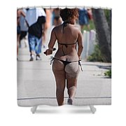 L W Thong Shower Curtain