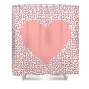 Love Heart Valentine Shape Shower Curtain