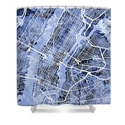 New York City Street Map Shower Curtain