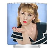 Pin Up Girl Shower Curtain