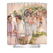 The Wedding Album  Shower Curtain