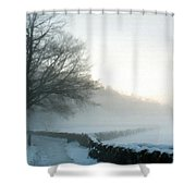 Wall Landscape Shower Curtain