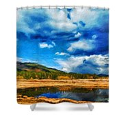 Landscape Painted Shower Curtain