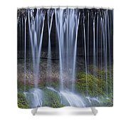 Water Flowing Over Rocks Shower Curtain