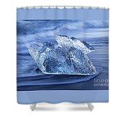 Ice On Beach Shower Curtain