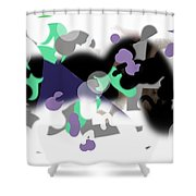 160423 Graphic Shower Curtain