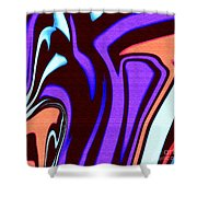 1631 Abstract Thought Shower Curtain