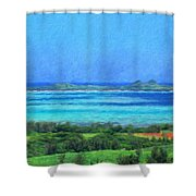 Nature Original Landscape Painting Shower Curtain