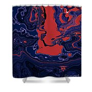 1671 Abstract Thought Shower Curtain