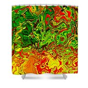 1683 Abstract Thought Shower Curtain