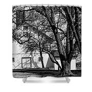 169 Marshfield Wisconsin Farm B W Shower Curtain