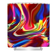 1697 Abstract Thought Shower Curtain
