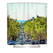 16th Street Northwest Shower Curtain