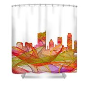 Austin Texas Skyline Shower Curtain