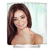 Beautiful Woman At Spa Shower Curtain