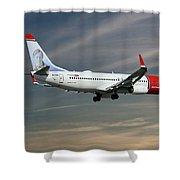 Norwegian Boeing 737-8jp Shower Curtain
